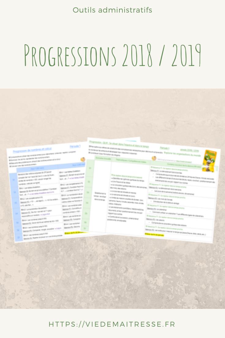 progressions 2018 - 2019