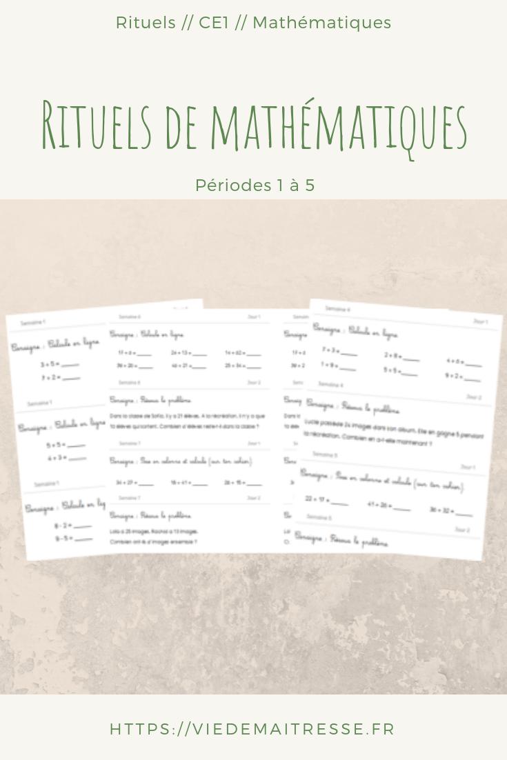 rituels maths CE1 2018