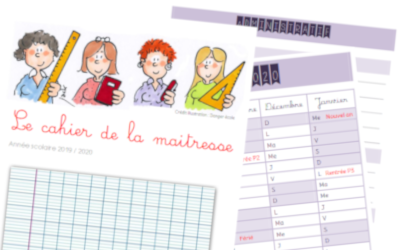 cahier de la maitresse 2019 - 2020 - Vie de maitresse - blog enseignant - CE1