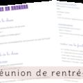 Réunion de rentrée - trame - Vie de maitresse - blog enseignant